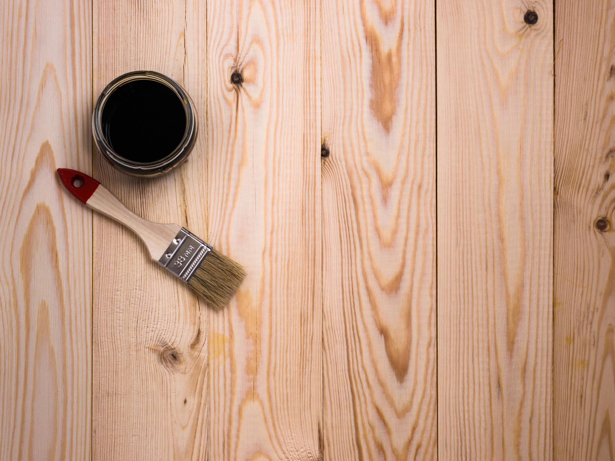 This is a picture of a house staining.